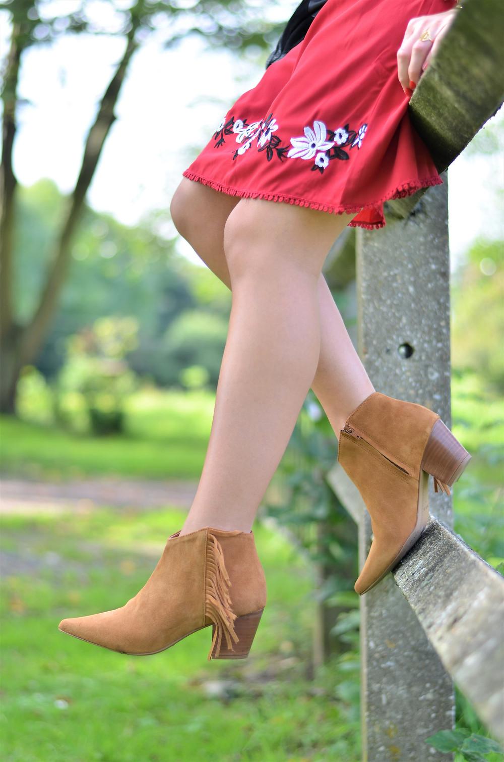 boots à franges
