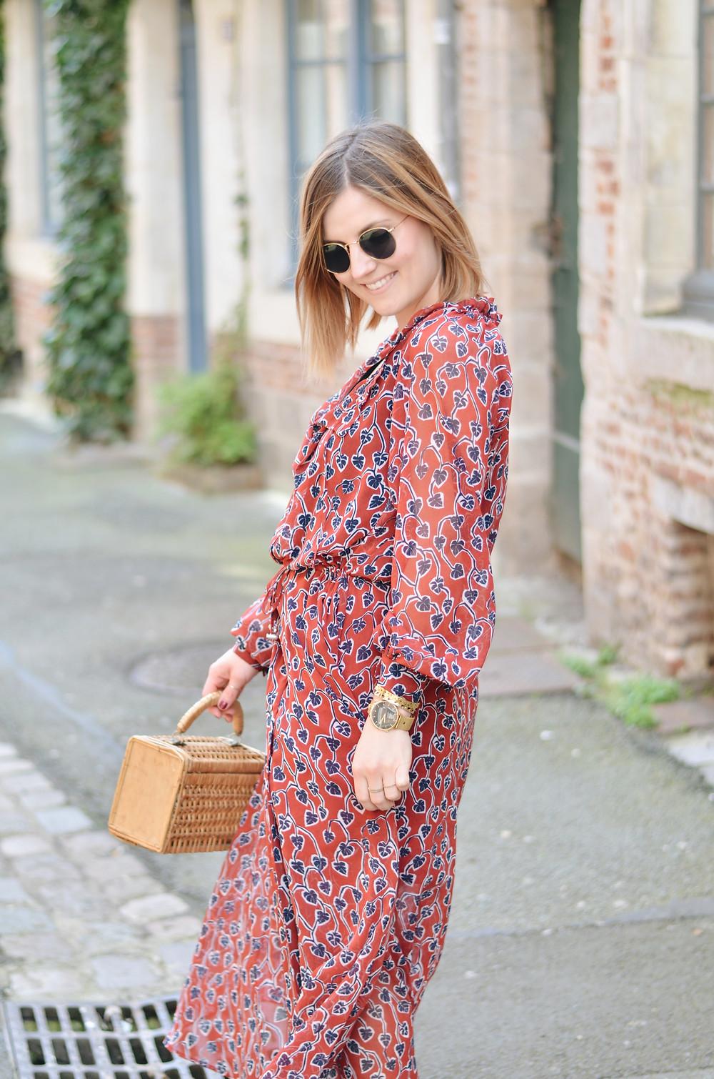 robe longue fleurie ikks