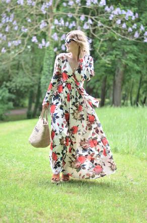 Robe longue fleurie She In