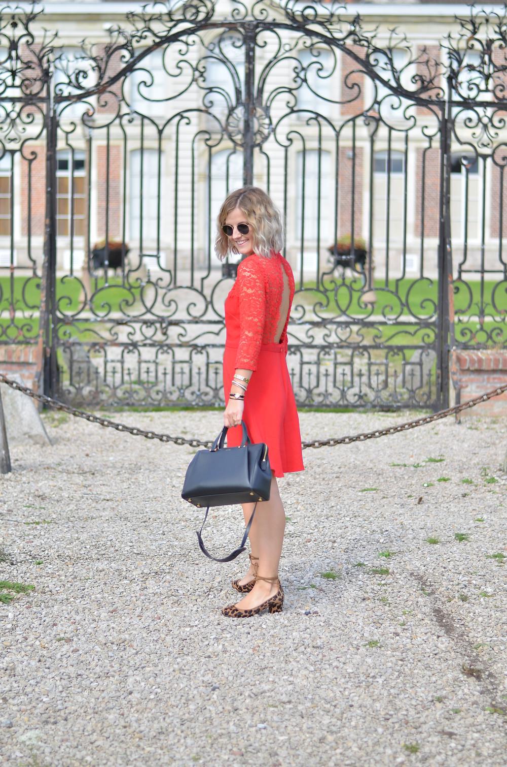 robe rouge dentelle grace et mila