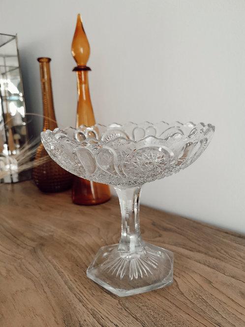 Coupe en verre ciselée