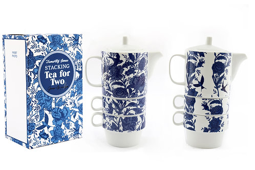 Stacking Tea for Two Willow Set