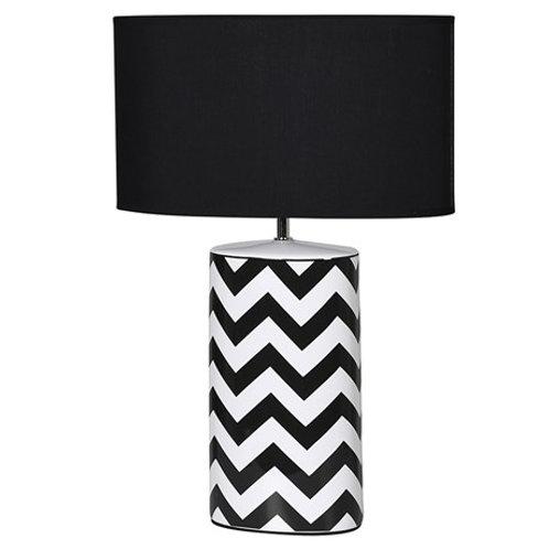 Monochrome Zig Zag Table Lamp