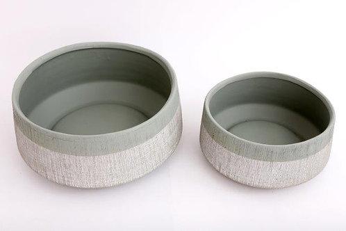 Set of 2 Short Round Pots