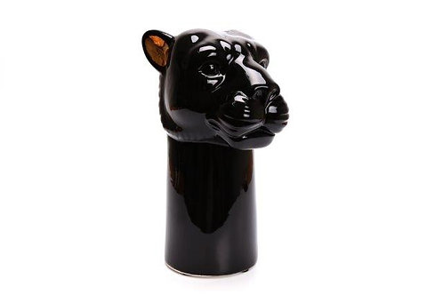 Black Panther Vase With Gold Ears