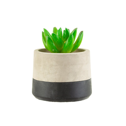 Mini Black Dip Cement Planter