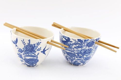 Willow Bowl with Chop Sticks