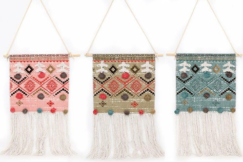 Wall Hanger With Pompom