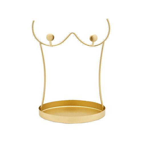 Gold Wire Torso Jewellery Stand