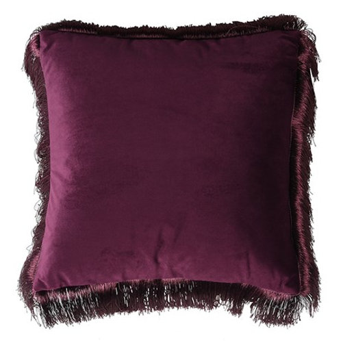Purple Fringe Edge Cushion Cover
