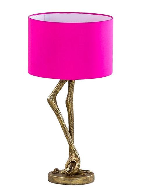Gold & Pink Flamingo Leg Table Lamp