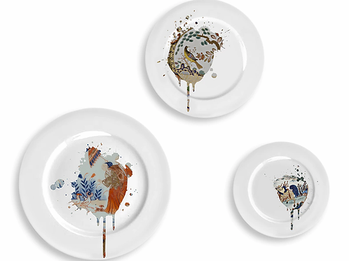 Undercover Imari  Plate -Set Of Three
