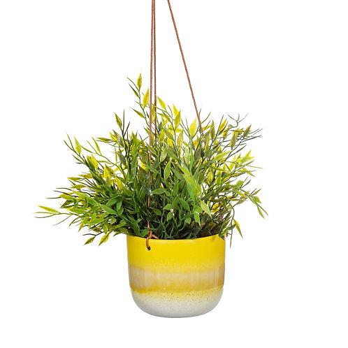 Mojave Glaze Yellow Hanging Planter