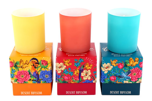 Mexican Floral Box Candle