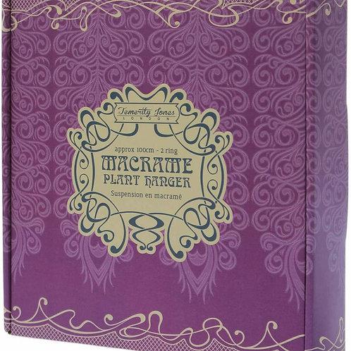 Purple Macramé Hanger