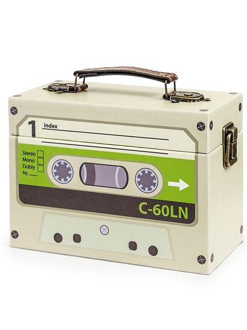 Green Retro Cassette Storage Box