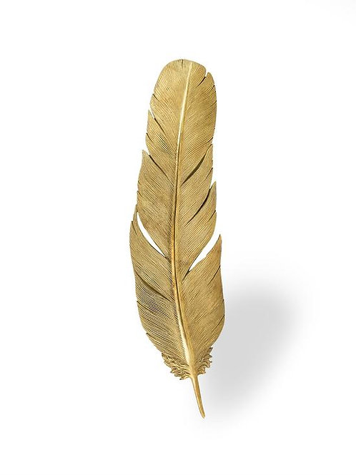Large Gold Feather Wall Decor