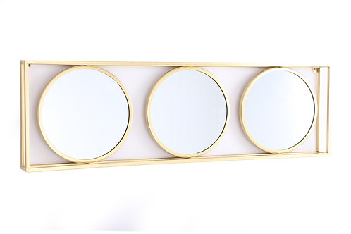 Triple Round Gold Mirror