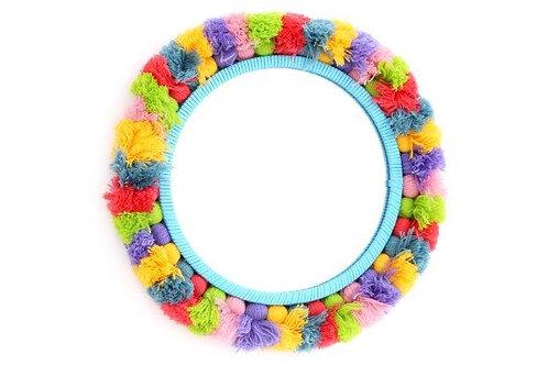 Mexican Floral Tassel Mirror