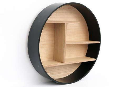 Black Round Shelf Unit