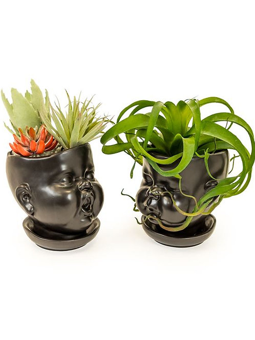 Baby Head Planter Black
