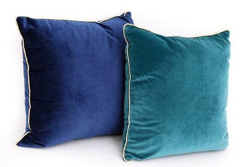 Peacock Velvet Cushion