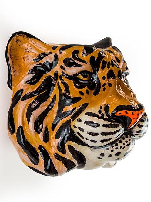 Ceramic Tiger Head Wall Sconce Vase