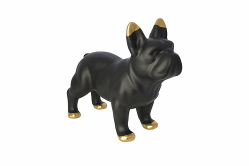 Black Ceramic Bulldog (Matte finish)