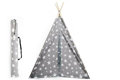 Grey and White Star Teepee