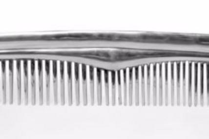 Polished Aluminium Comb Wall Decor