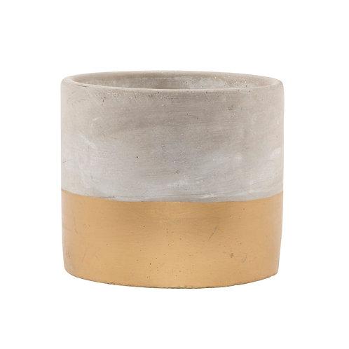 Tuva Gold Dip Cement Planter