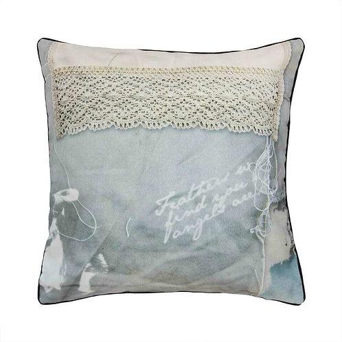 Sewn Crochet Cushion