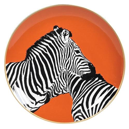 Zebras Decorative Plate