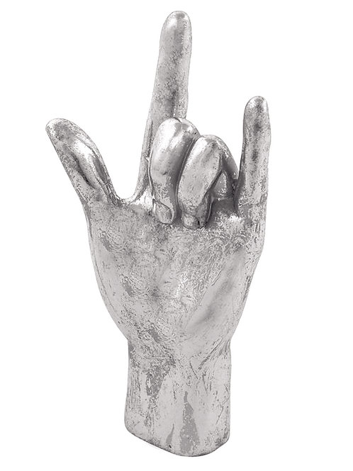 Silver rock On! Hand Figure