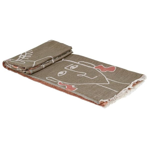 Reversible Abstract Faces Throw