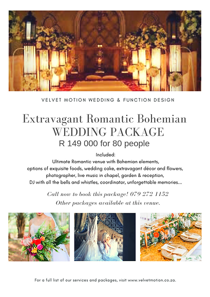 Extravagant Romantic Bohemian  Package -