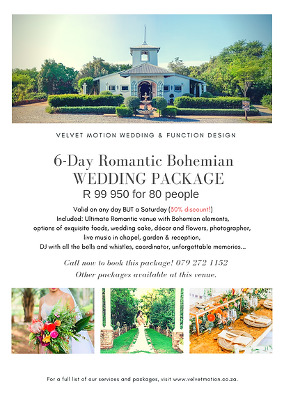 6-Day Romantic Bohemian  Package - Casab