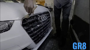 Car exterior front grill detailing
