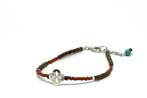 """Bracelet Mini trésor """"les saisons"""" terre de Sienne"""
