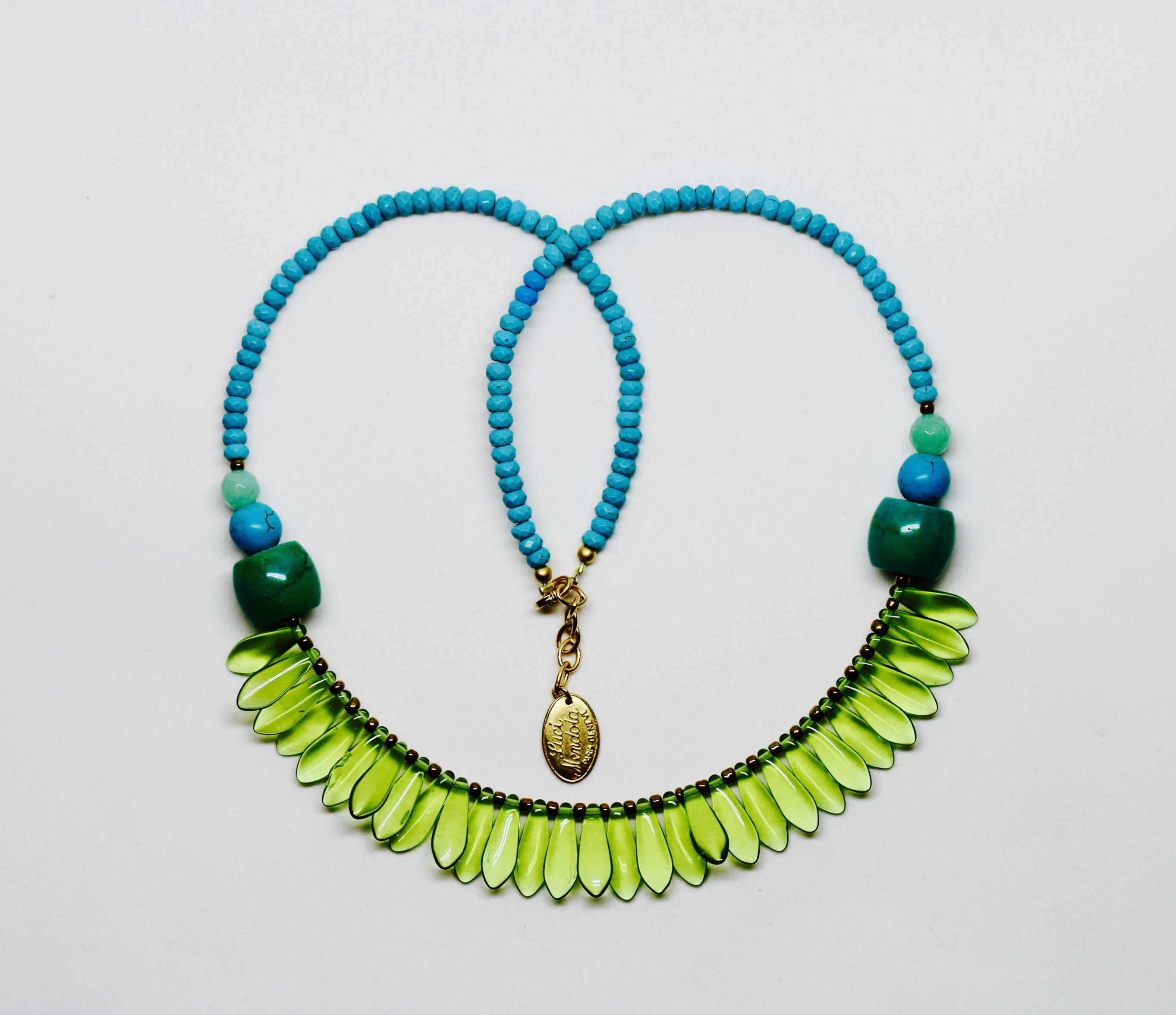 collier plumes Murano Luci Mendola