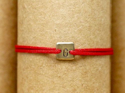 "Bracelet Mini lingot ""G"" c'too or jaune 18 carats"