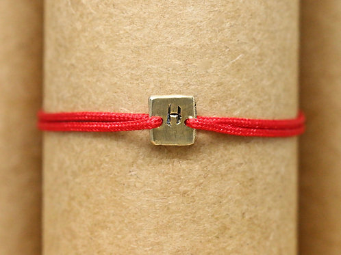 "Bracelet Mini lingot ""H"" c'too or jaune 18 carats"