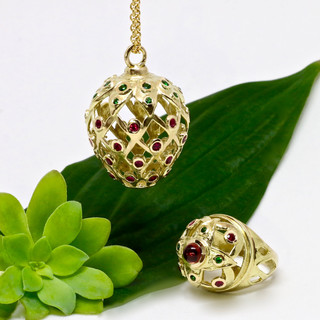 """Collection """"fraise"""" joaillerie"""
