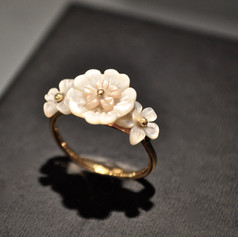 Bague or 18ct Flower city