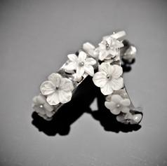 Boucle d'oreille créoles Flower city