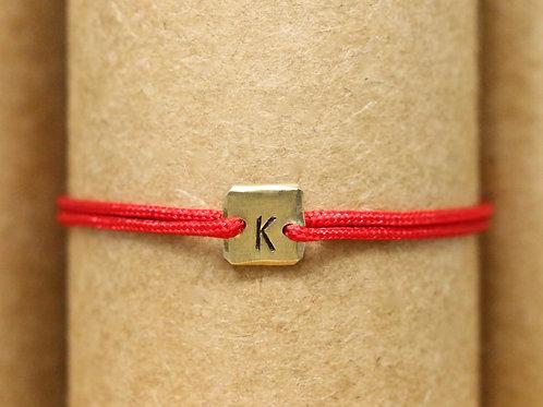 """Bracelet Mini lingot """"K"""" c'too or jaune 18 carats"""