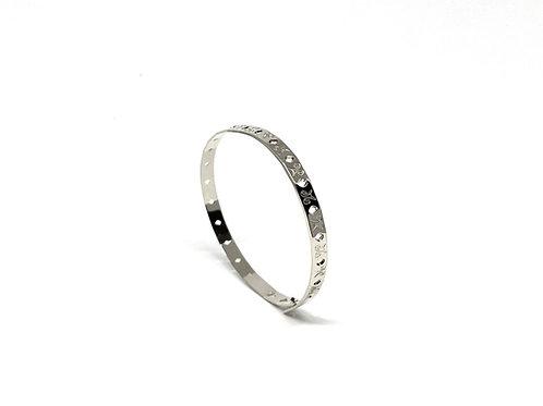 """Bracelet click & chic """"LM"""" argent 925"""