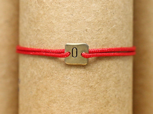 "Bracelet Mini lingot ""O"" c'too or jaune 18 carats"