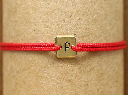 "Bracelet Mini lingot ""P"" c'too or jaune 18 carats"