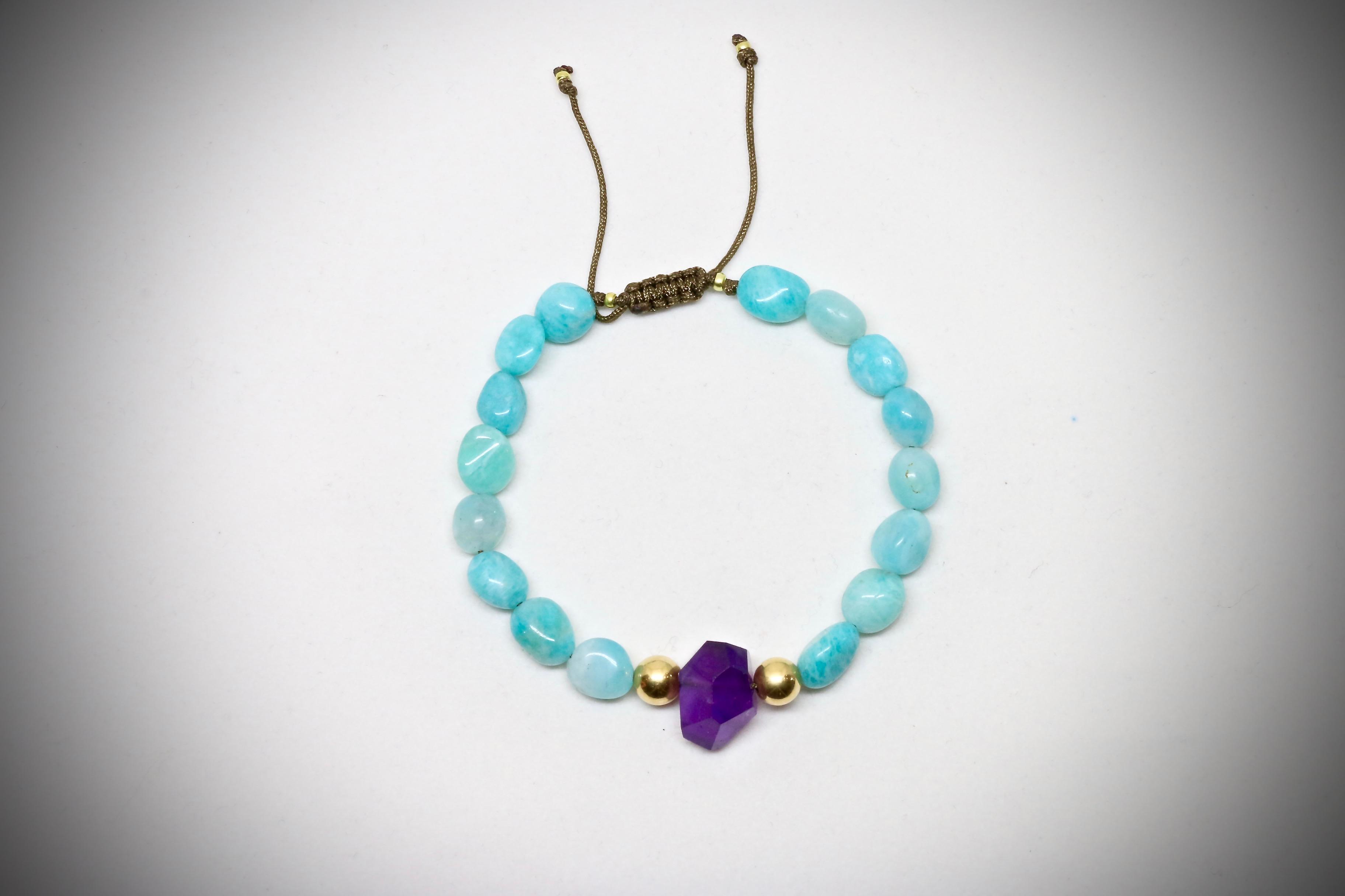 Bracelet amazonite Luci Mendola